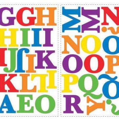 Adesivo Alfabeto Colorido