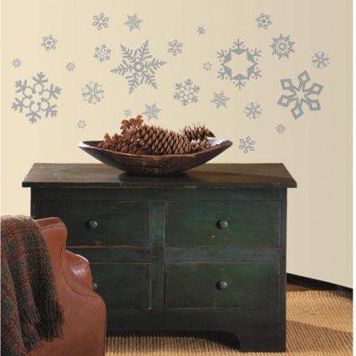 Adesivos Flocos de Neve com Glitter