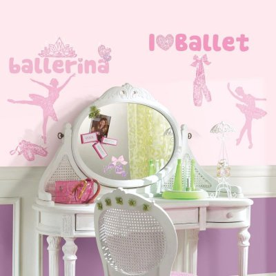 Adesivos de Ballet com Glitter