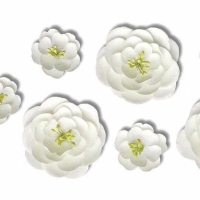Enfeite de Flor Branca