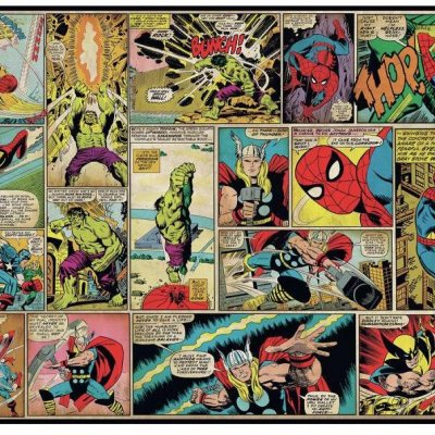 Mural Comics Marvel