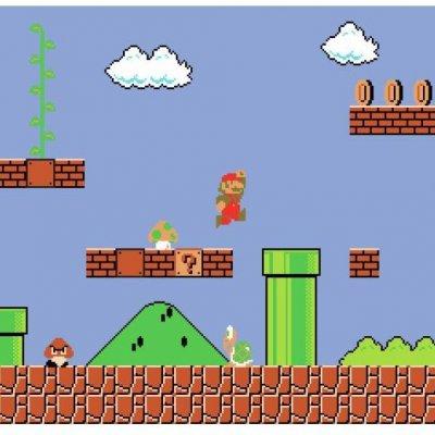 Mural Super Mario Retro
