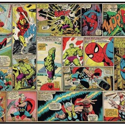 Mural Comics Clássicos Marvel