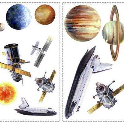 Adesivos Viagem ao Espaço