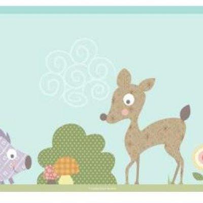 Faixa Animais da Floresta Peel&Stick