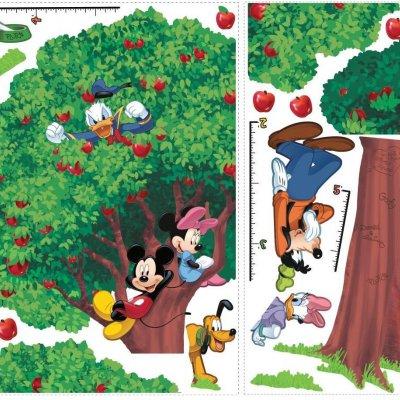 Adesivo Mickey e seus Amigos com Régua de Crescimento (Polegadas)