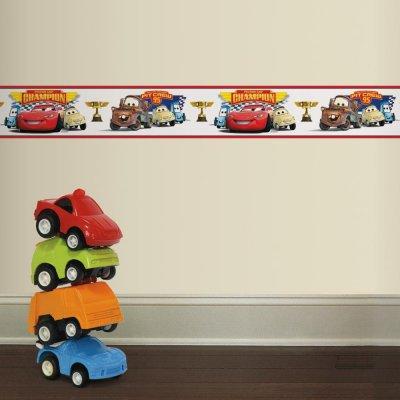 Faixa Campeões da Copa Pistão de Carros da Disney Pixar Peel&Stick