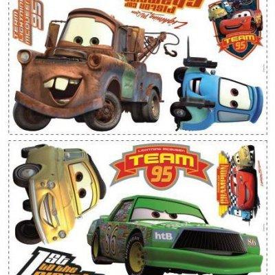 Adesivos Campeões da Copa Pistão de Carros da Disney Pixar