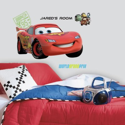 Adesivo Relâmpago McQueen da Disney Pixar com Alfabeto