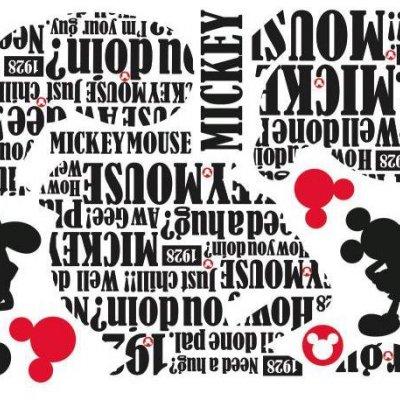 Adesivo Tipográfico do Mickey Mouse