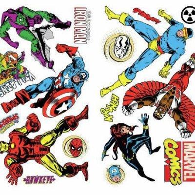 Adesivos Comics Marvel