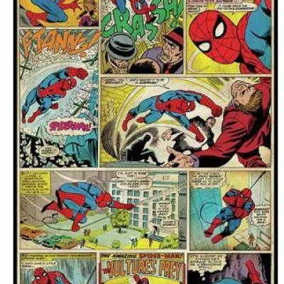 Adesivo Comics Homem Aranha da Marvel
