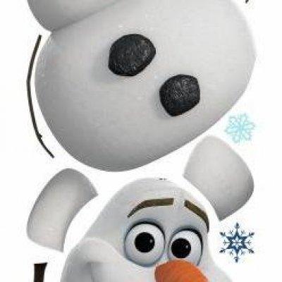 Adesivo Olaf o Boneco de Neve de Frozen