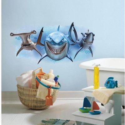 Adesivo Tubarões de Procurando Nemo