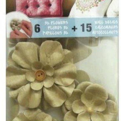 Adesivo Floral com Enfeite de Flores