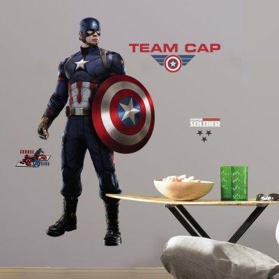 Adesivo Capitão América Guerra Civil