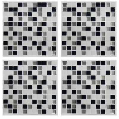 Mosaico Preto e Branco  StickTILES