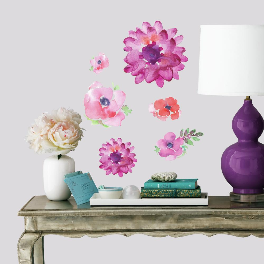 Adesivo Flores De Aquarela Kathy Davis Produto Roommates